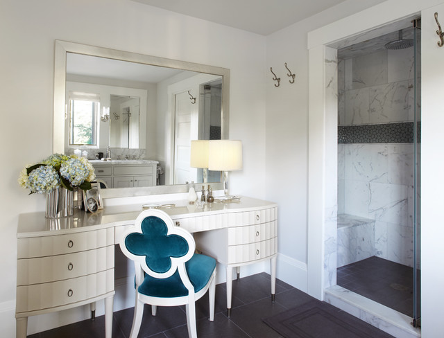 Master bath dressing table contemporary bathroom san francisco by maya design studio - Modern bathroom dressing table ...