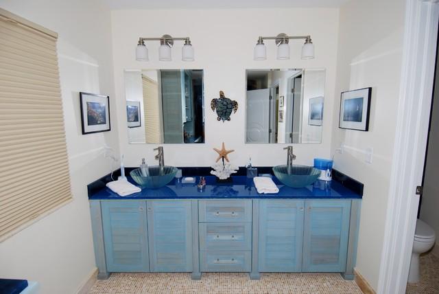 Master Bath Coastal Bathroom, Beach Bathroom Cabinets