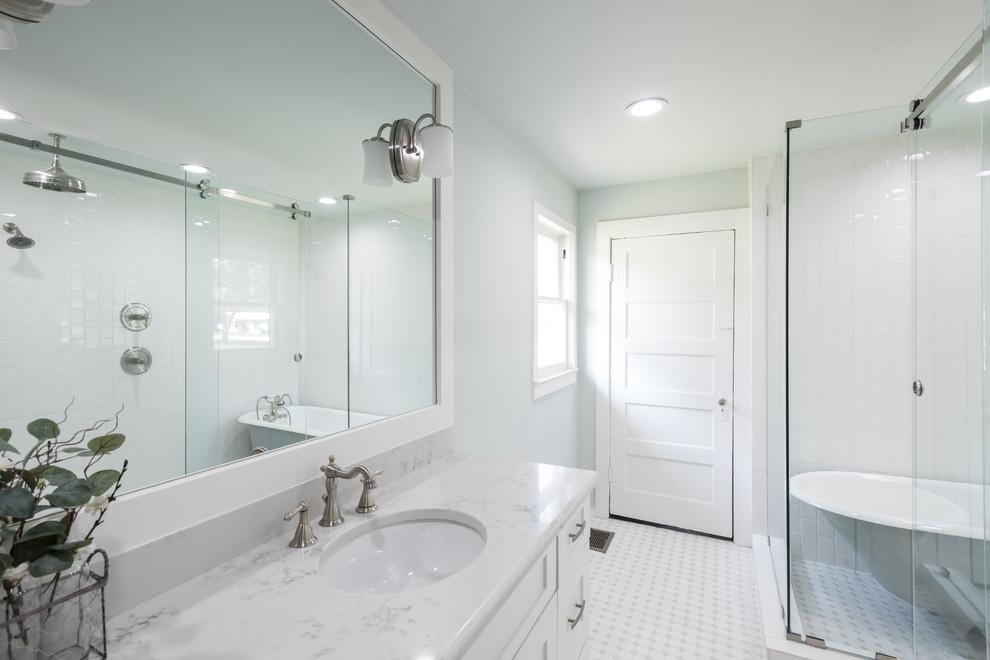 Master Bath For 1910 Farmhouse Farmhouse Bathroom Dallas By Kim Bailey Interiors Llc