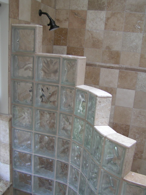 Master Bath Glass Block