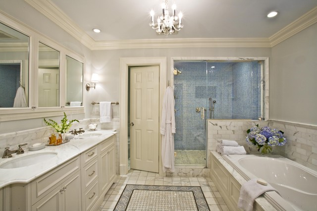 Master bath traditional bathroom new york by for Luxe decor llp
