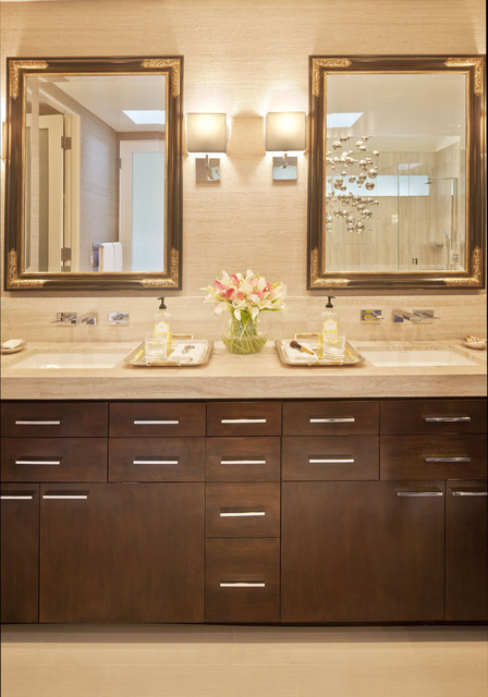 Master Bath His & Hers Vanity contemporary bathroom