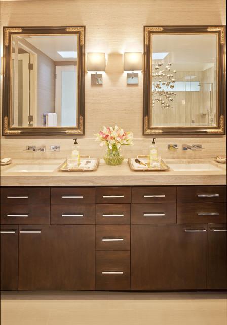 Master Bath His & Hers Vanity contemporary-bathroom