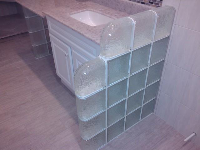 Master Bath IceScapes Pattern modern-bathroom