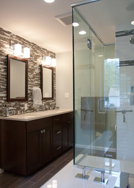 Master Bath in Needham contemporary-bathroom