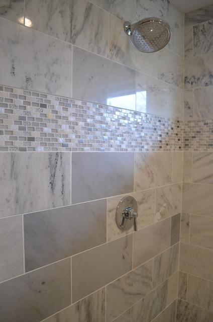 Master Bath In White Carrara Marble Modern Bathroom