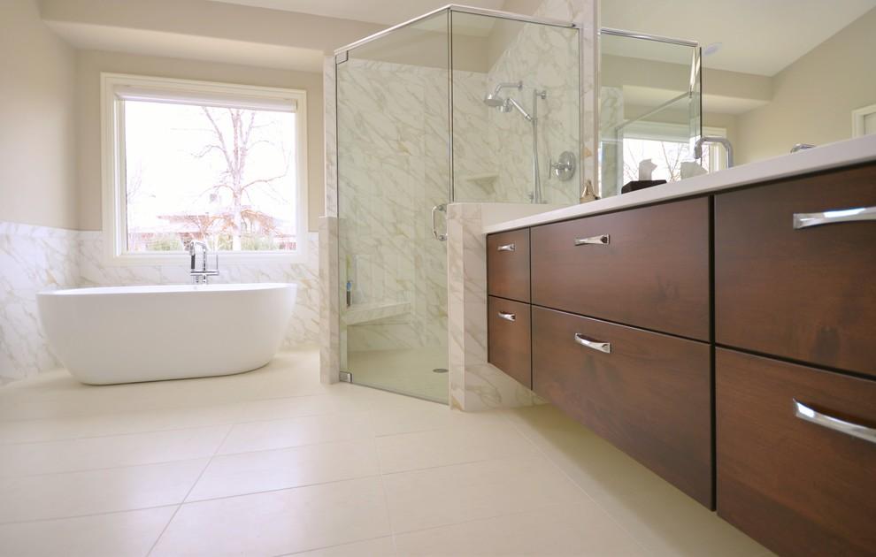 Master bath in Wood Duck - Contemporary - Bathroom - Boise ...