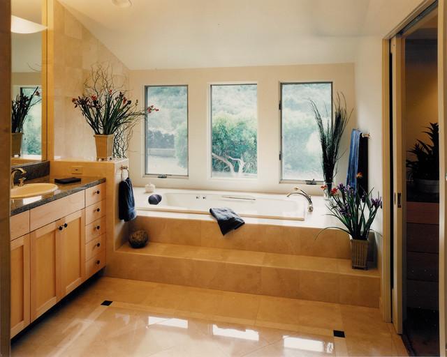 Feng master bath contemporary-bathroom