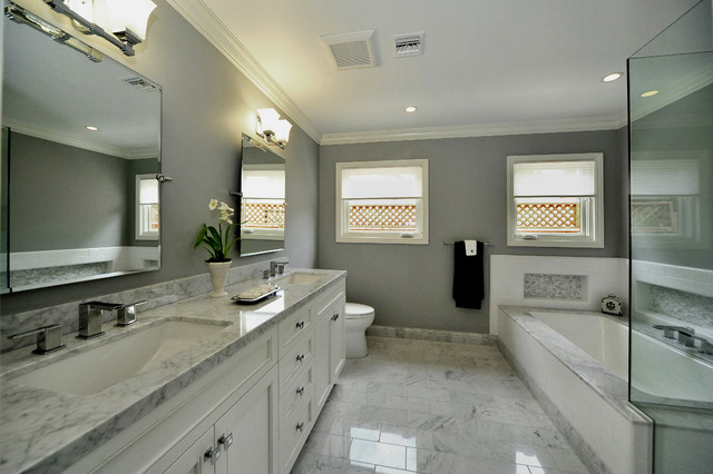 Master Bath Transitional Bathroom Los Angeles By