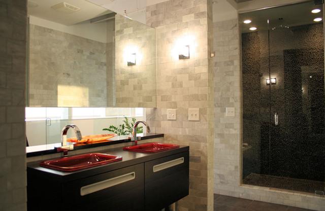 master bath midtown loft renovation modern bathroom