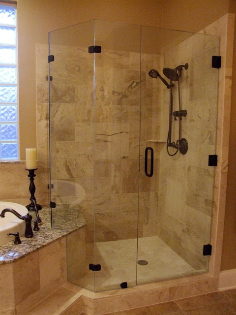 Master Bath Natural Stone Traditional Bathroom