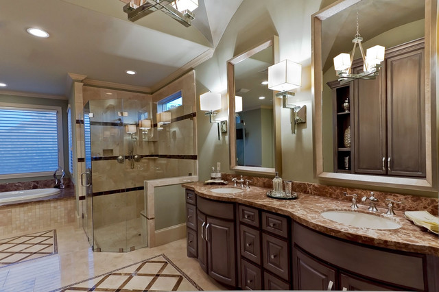 Master bath new construction design build spring for Bathroom designs houston