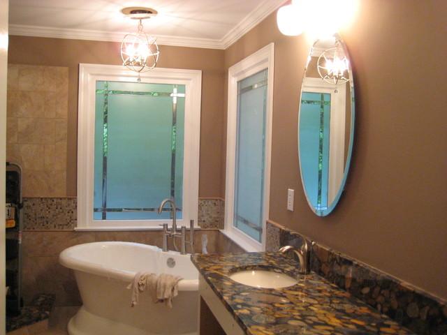 Master Bath North Raleigh eclectic-bathroom