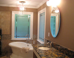 Master Bath North Raleigh eclectic-bathroom