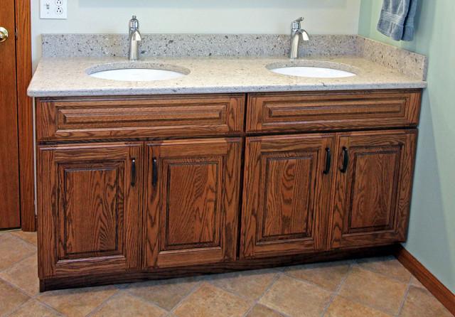 Master Bath Oak Vanity With Cambria