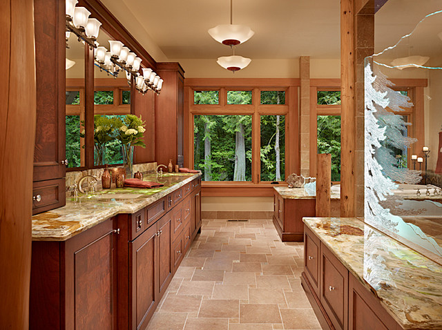 Master Bath of Cedar Haven Home contemporary bathroom