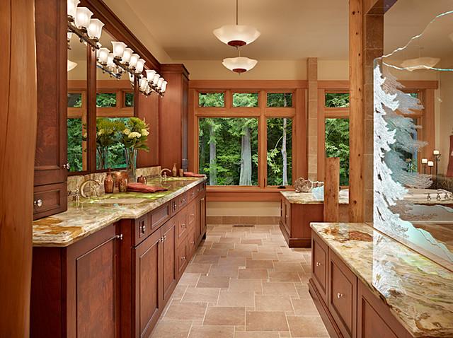 Master Bath of Cedar Haven Home contemporary-bathroom