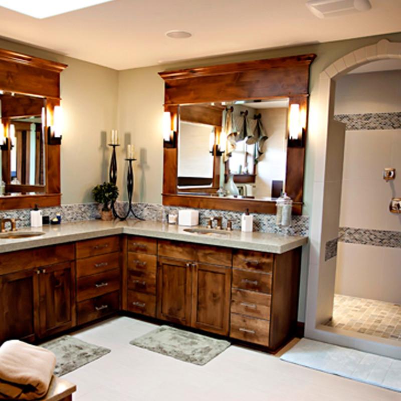 L Shaped Bathroom Vanities Houzz