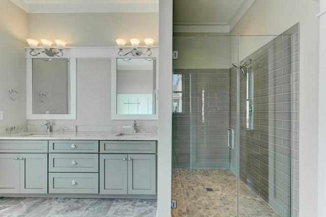 Master Bath - Farmhouse - Bathroom - Raleigh - by Paragon Building ...