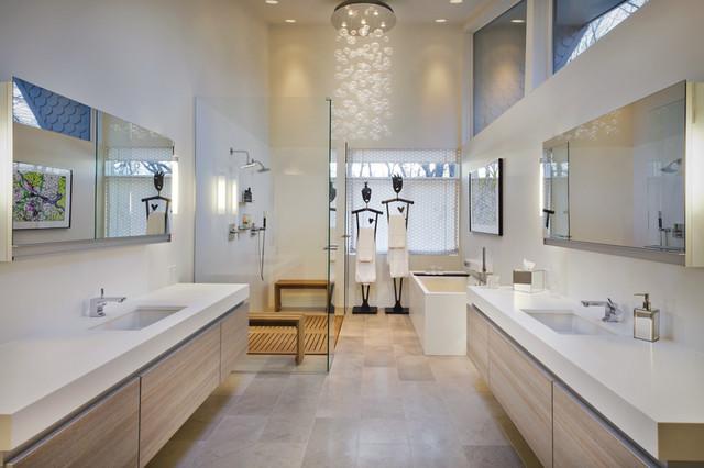 Awesome Modernmasterbathroomvanityonmasterbathtubmasterbathroom