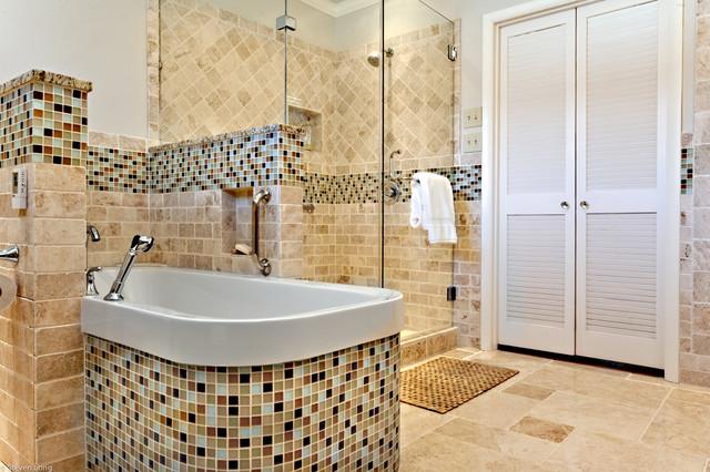 Master bath remodel 1950 39 s california ranch in nashville for Modern ranch bathroom