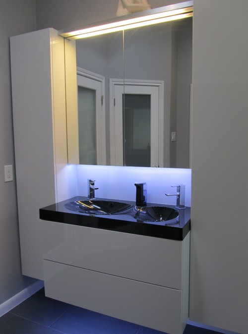 . Love the godmorgon light   mirror cabinet  what height is junction box