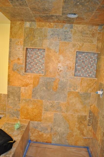 Master bath remodel eclectic-bathroom