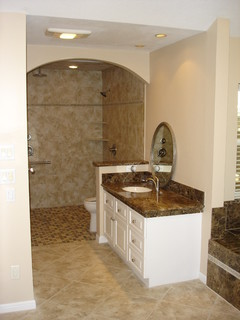 Bathroom Vanities Houston on Master Bath Remodel   Design For Easier Living   Traditional   Houston