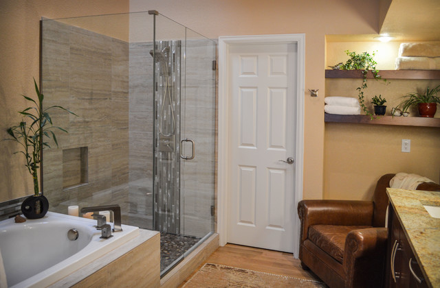 master bath remodel in denver contemporary bathroom
