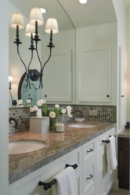 Master bath remodel in transitional style traditional for Bathroom ideas houston