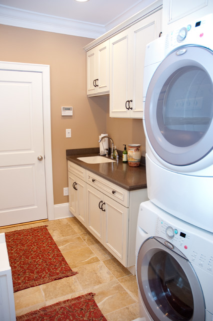 Master bath remodel laundry area traditional for Bathroom remodelers in my area