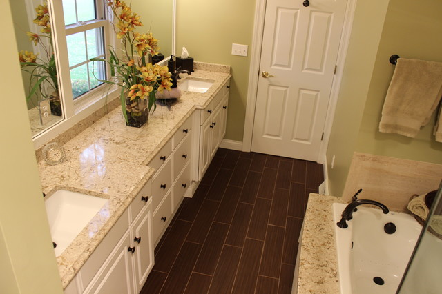 Master Bath Remodel West Akron Oh 1 Transitional Bathroom Cleveland By Cabinet S Top