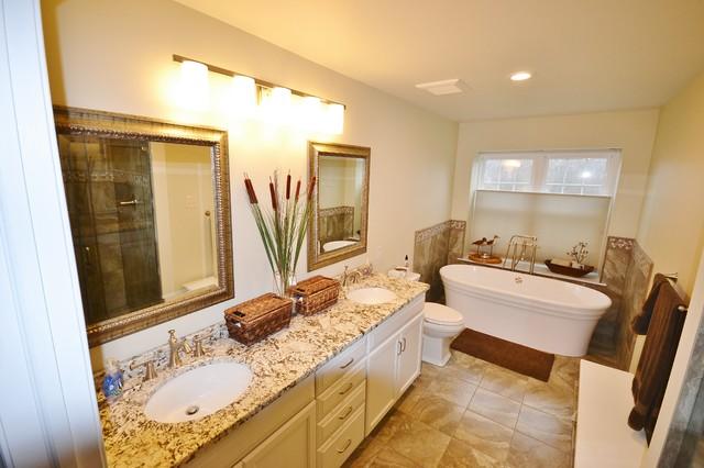 Master Bath Remodel West Chester W Free Standing Tub Traditional Bathroom Philadelphia