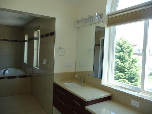 Master Bath Remodel with Aco Linear Drain contemporary-bathroom