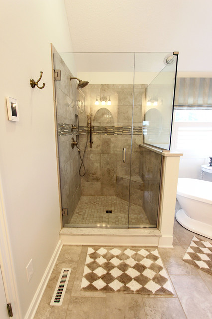 Master Bath Remodel With Soaker Tub Custom Tiled Shower And Warm
