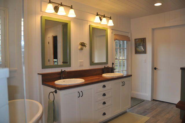 Master bath renovation country flair beach style for Bathroom renovation tampa