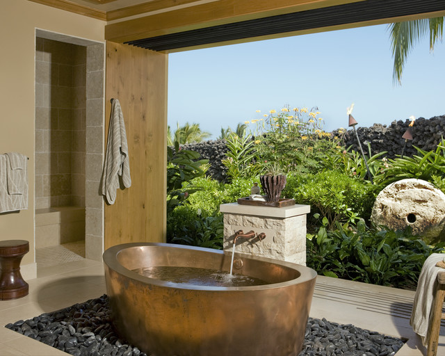 Master Bath tropical-bathroom