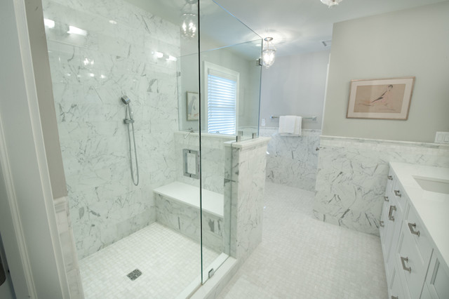 master bath shower shower seat transitional bathroom new york