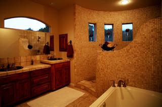 master bath shower - mediterranean - bathroom - austin