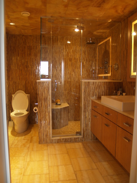 Master Bath Steam Shower Contemporary Bathroom