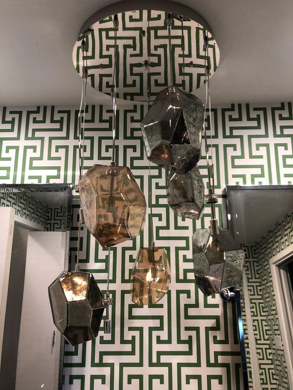 Master Bath - Thibaut Geometric East Memphis ...