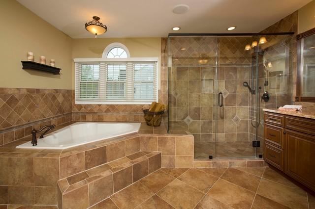 master bath touts spa like elegance traditional