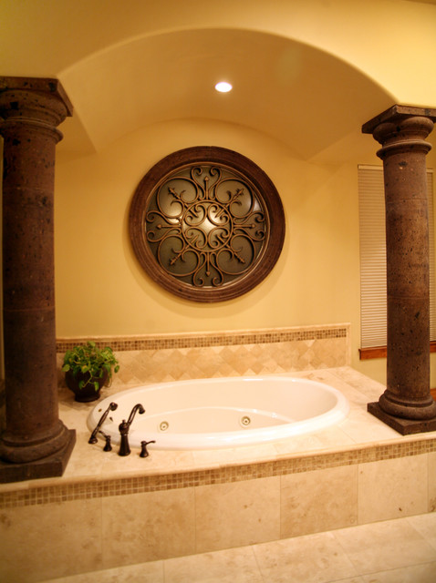 Master Bath Tub mediterranean bathroom