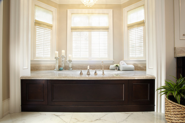 Master Bath Tub Skirt Traditional Bathroom