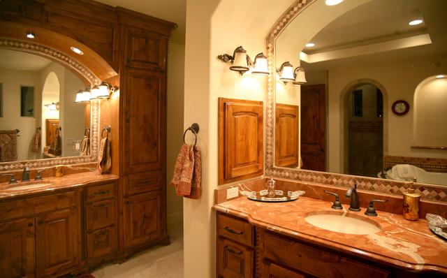 Mediterranean Bathroom Sinks: Master Bath Vanities