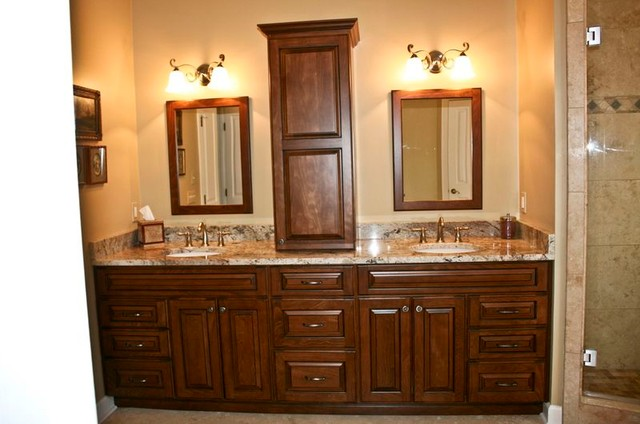 Lovely Master Bath Vanity Traditional Bathroom
