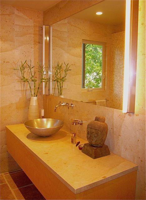 Inspiration for a zen bathroom remodel in San Francisco