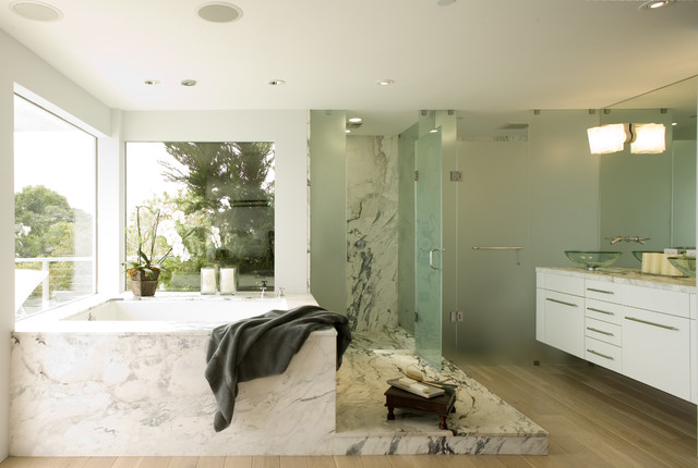 Frosted Glass For Bathroom. Master Bath W Frosted Glass Shower Surround Floating Vainty Marble Slabs Modern