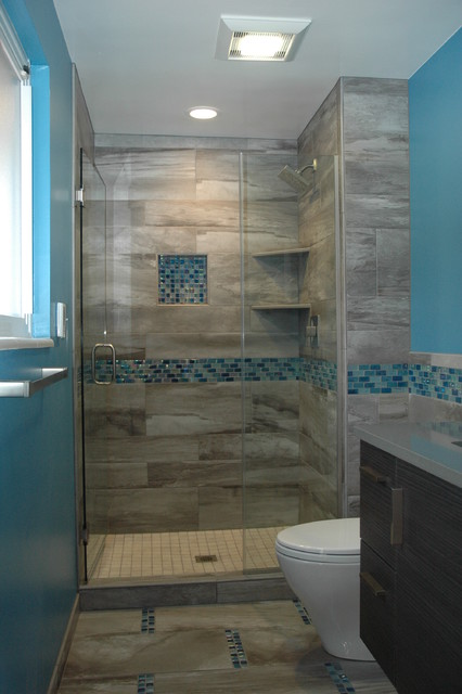 Master bath walk in european shower for European bathroom designs pictures