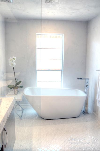 Master Bath Waterproof Veneer Plaster System - Transitional - Bathroom - houston - by Imago Dei
